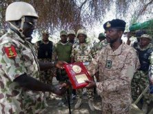 LT.Col Muhammad Abu-Ali decorated by COAS Lieutenant General Tukur Yusuf Buratai