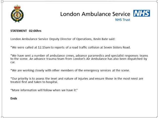 Capture- Denisaurus News- London Ambulance