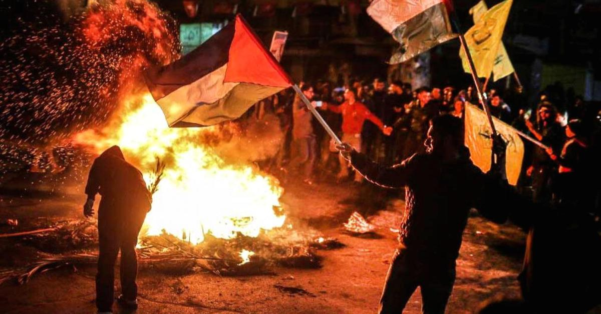 Violence Breaks Out At Palestinian West Bank Following Trumps Declaration Of Jerusalem As Capital Of Israel