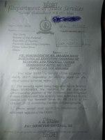 DSS Letter