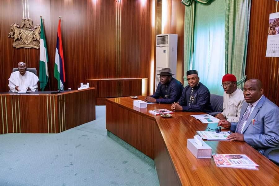 PDP Governor met Buhari
