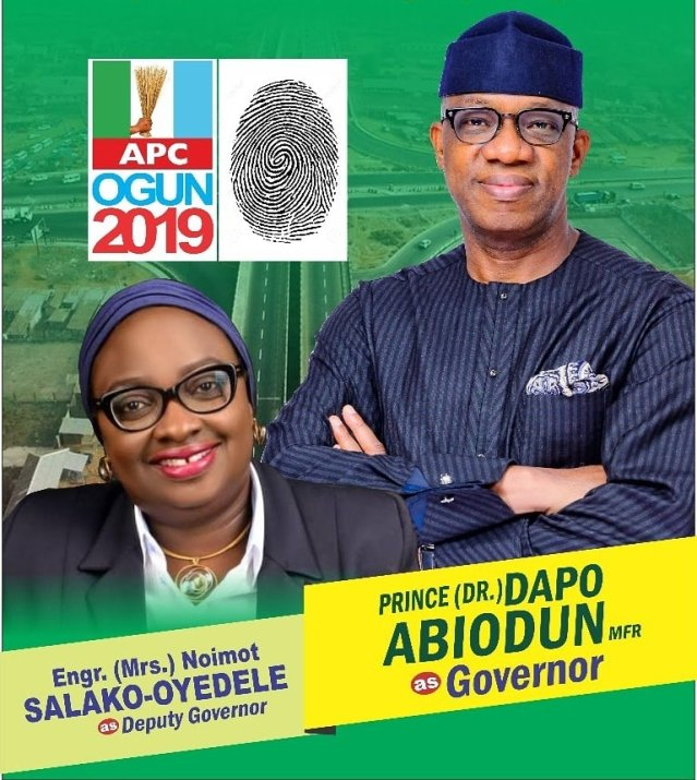 Ogun 2019 - Governor and Deputy