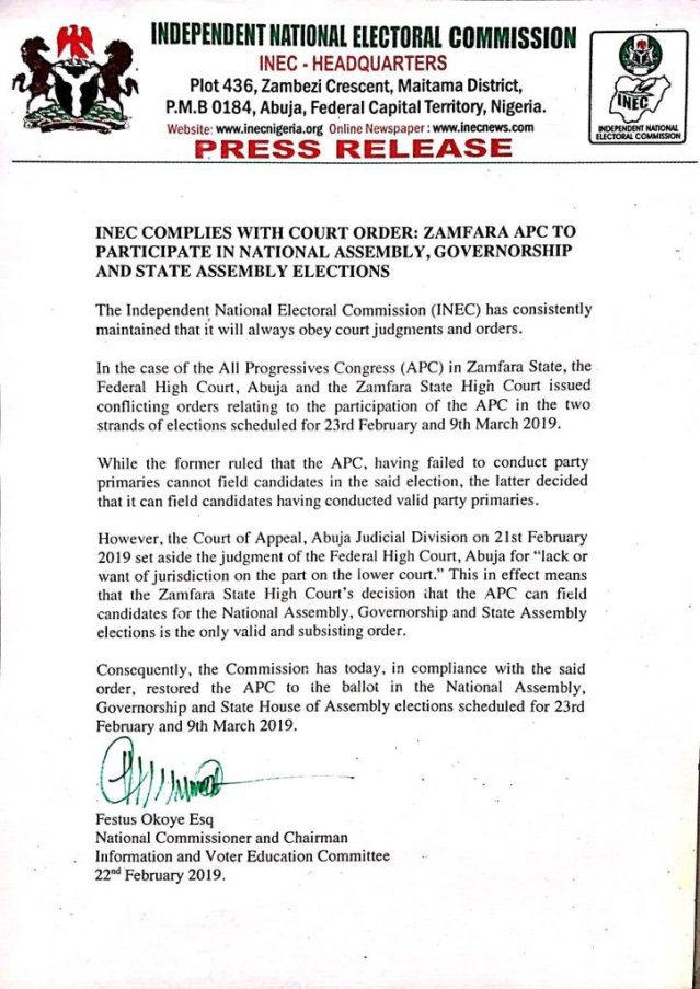 INEC #Zamfara